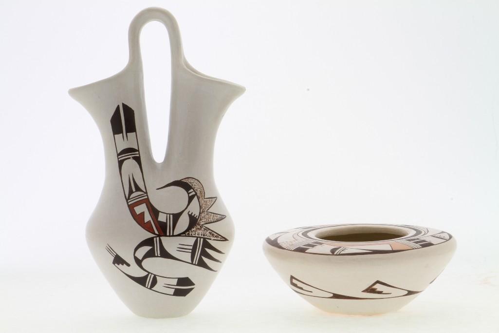 Two Hopi polychrome vessels - 2