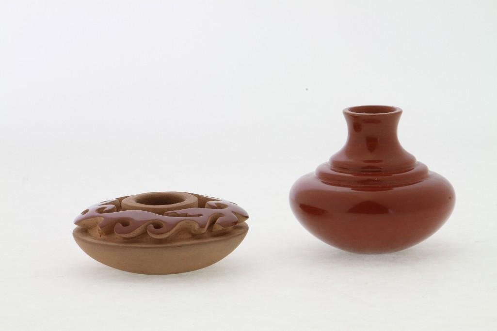 Two Santa Clara miniature jars - 2