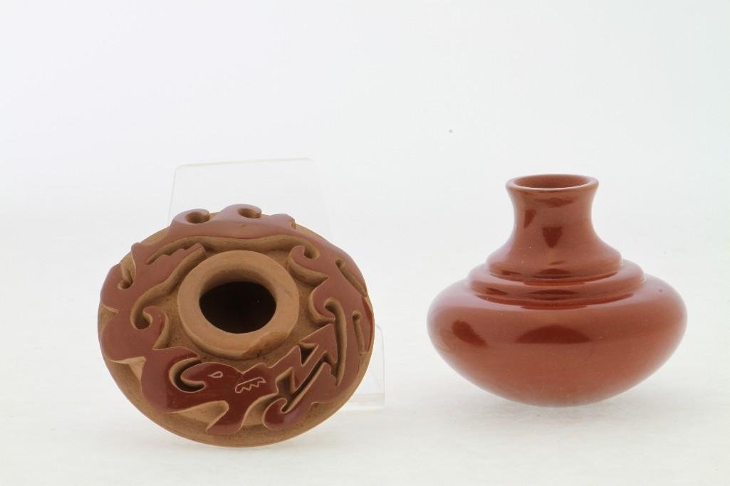 Two Santa Clara miniature jars - 4