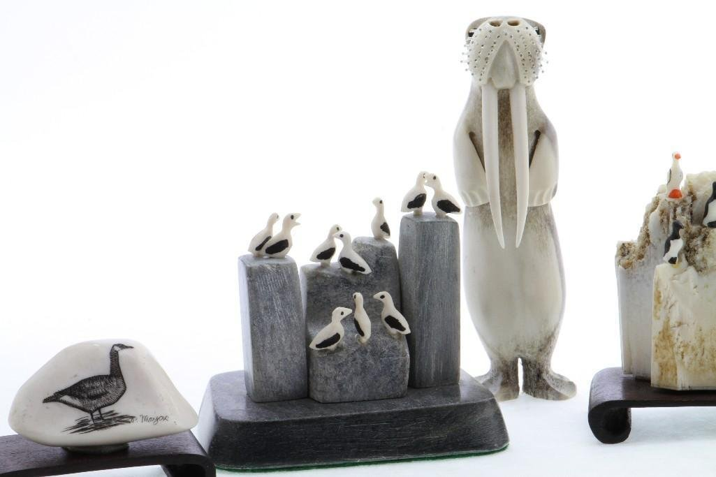 Five Inuit or related decorative art objects - 3