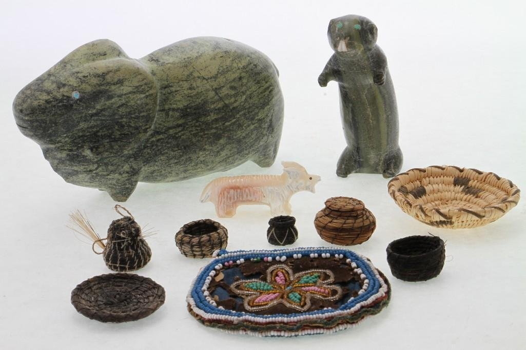 Group of Native American items