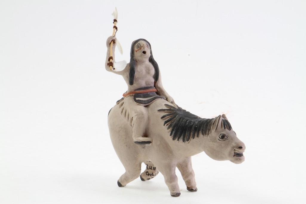 Zuni/Cochiti equestrian figure