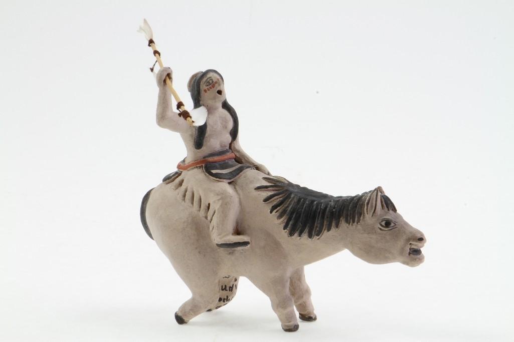 Zuni/Cochiti equestrian figure - 2