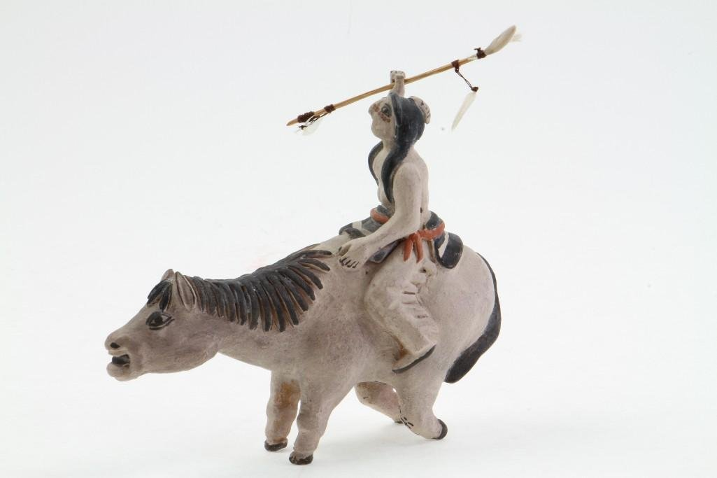 Zuni/Cochiti equestrian figure - 3