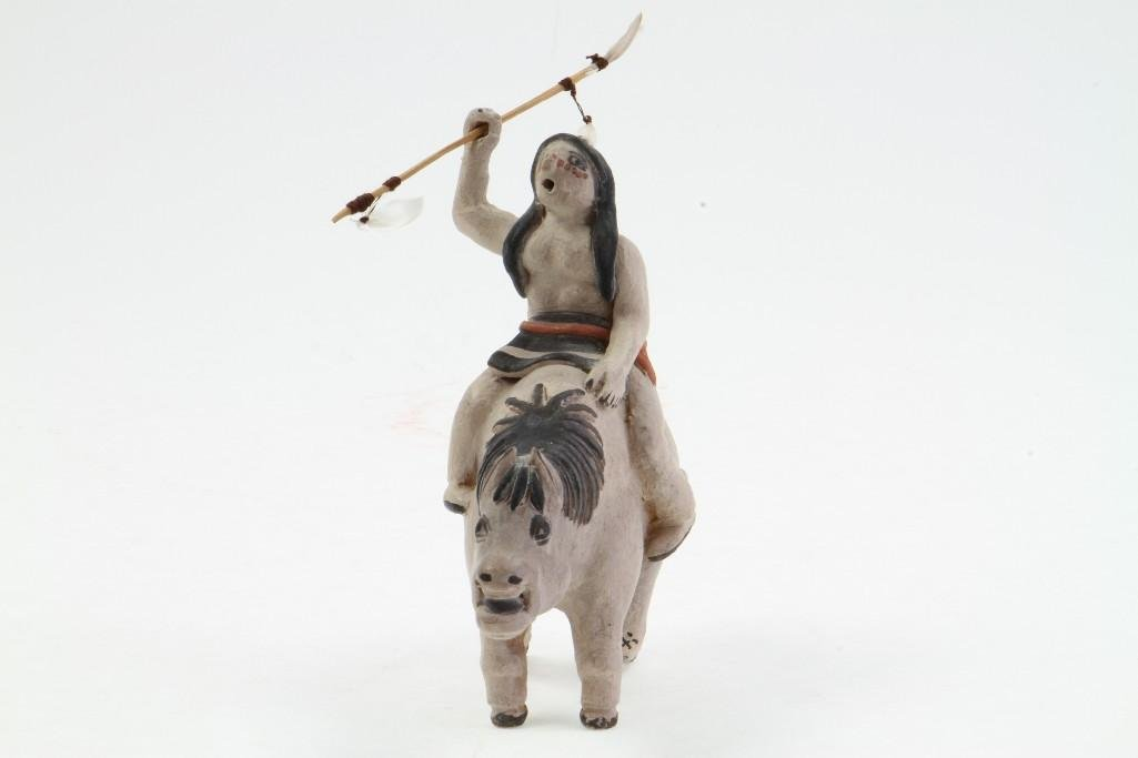 Zuni/Cochiti equestrian figure - 4