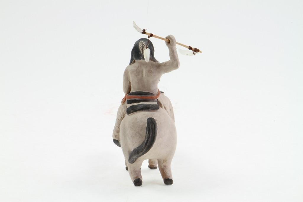 Zuni/Cochiti equestrian figure - 5
