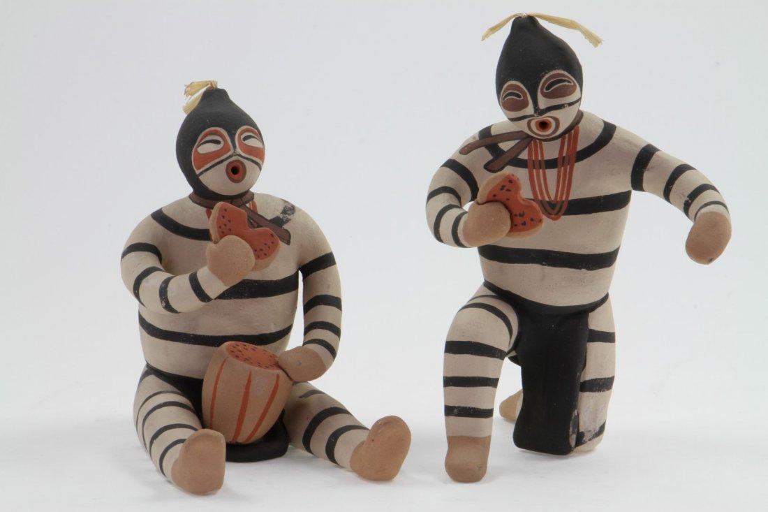 Two Jemez clowns