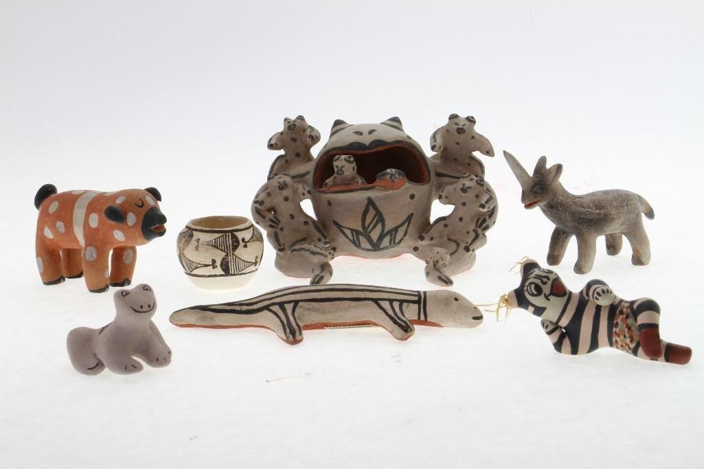 Seven Pueblo items