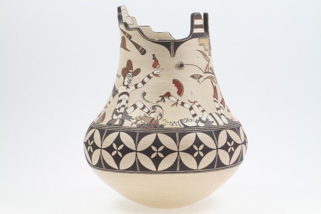 Santa Clara polychrome vase