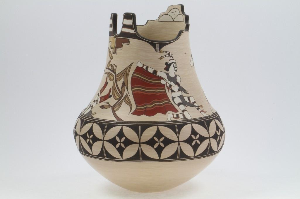 Santa Clara polychrome vase - 4