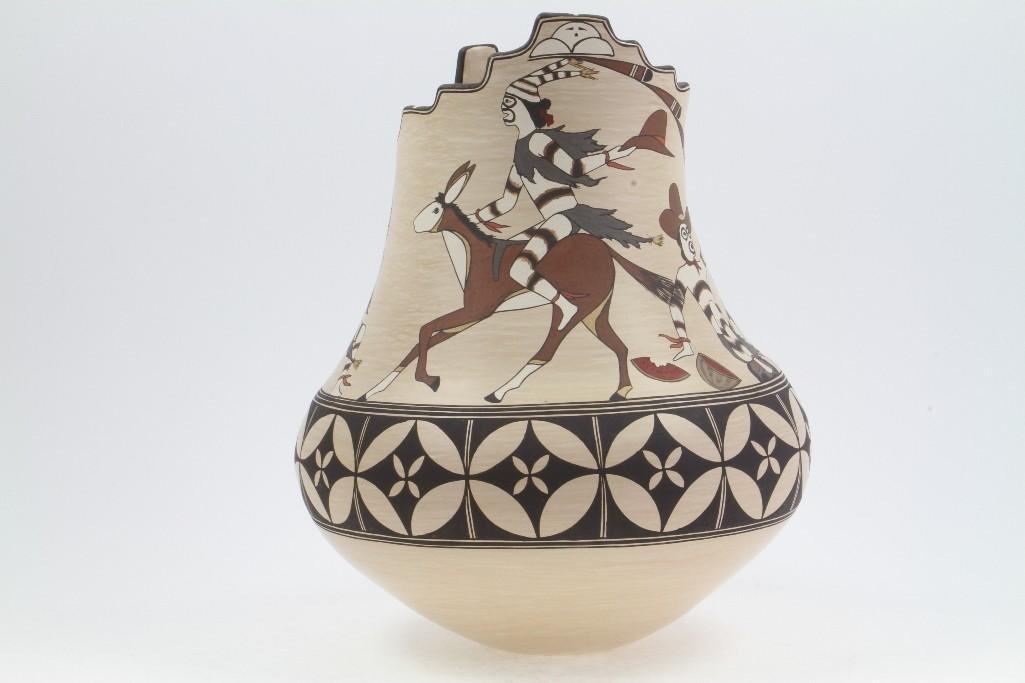 Santa Clara polychrome vase - 6