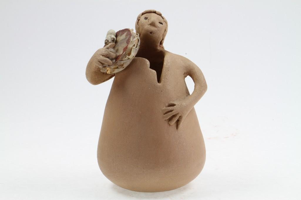 Southwest human figural vessel