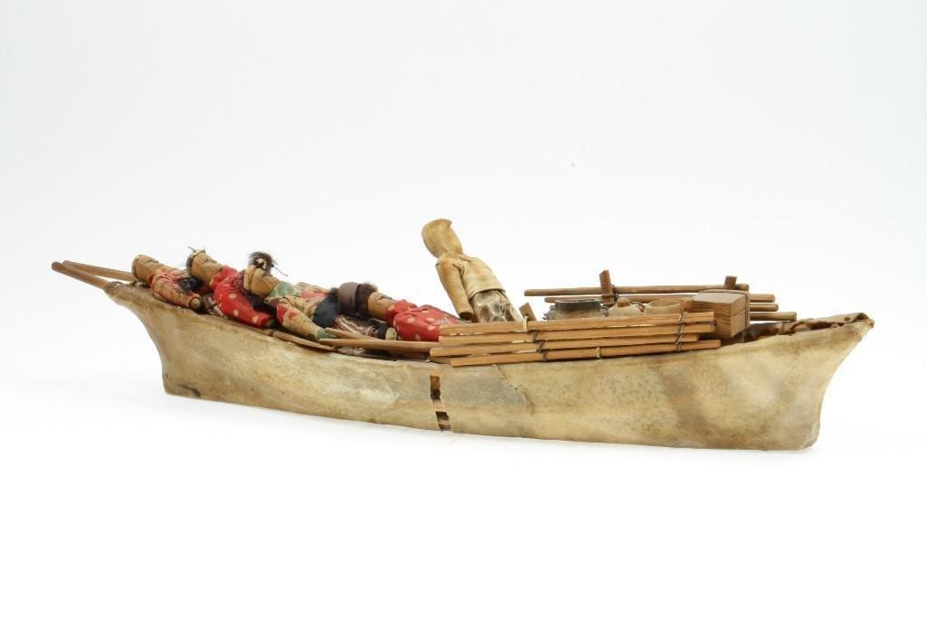 Greenland Eskimo model boat