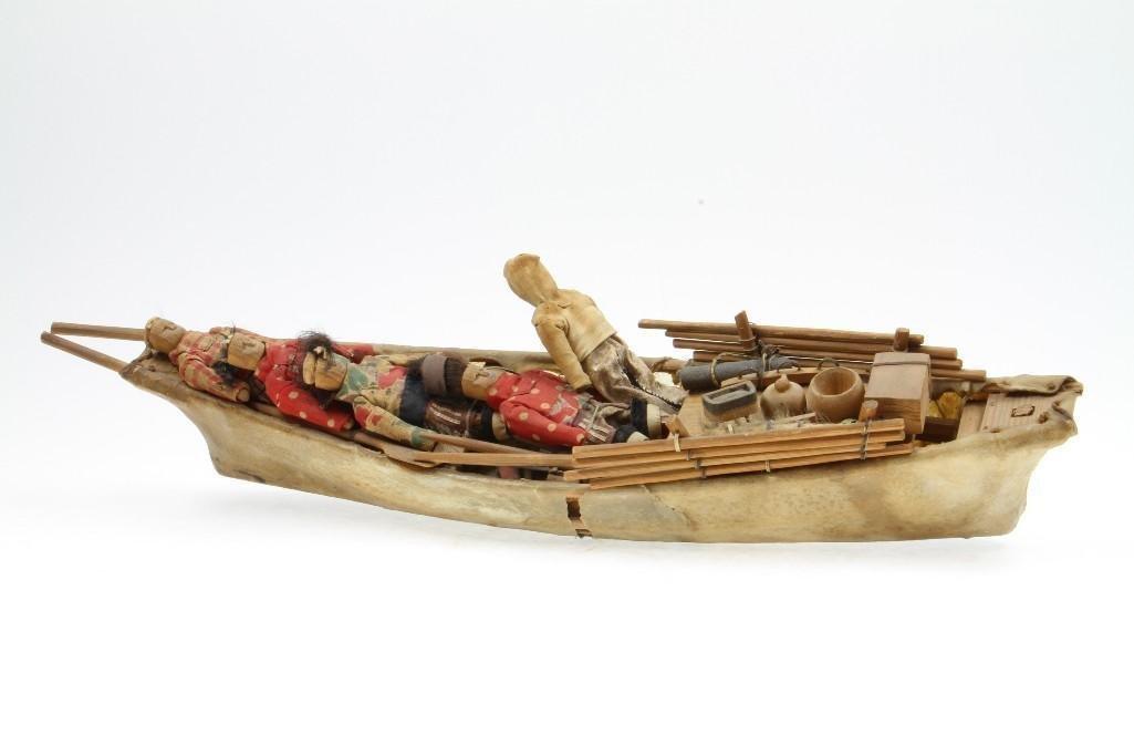 Greenland Eskimo model boat - 2