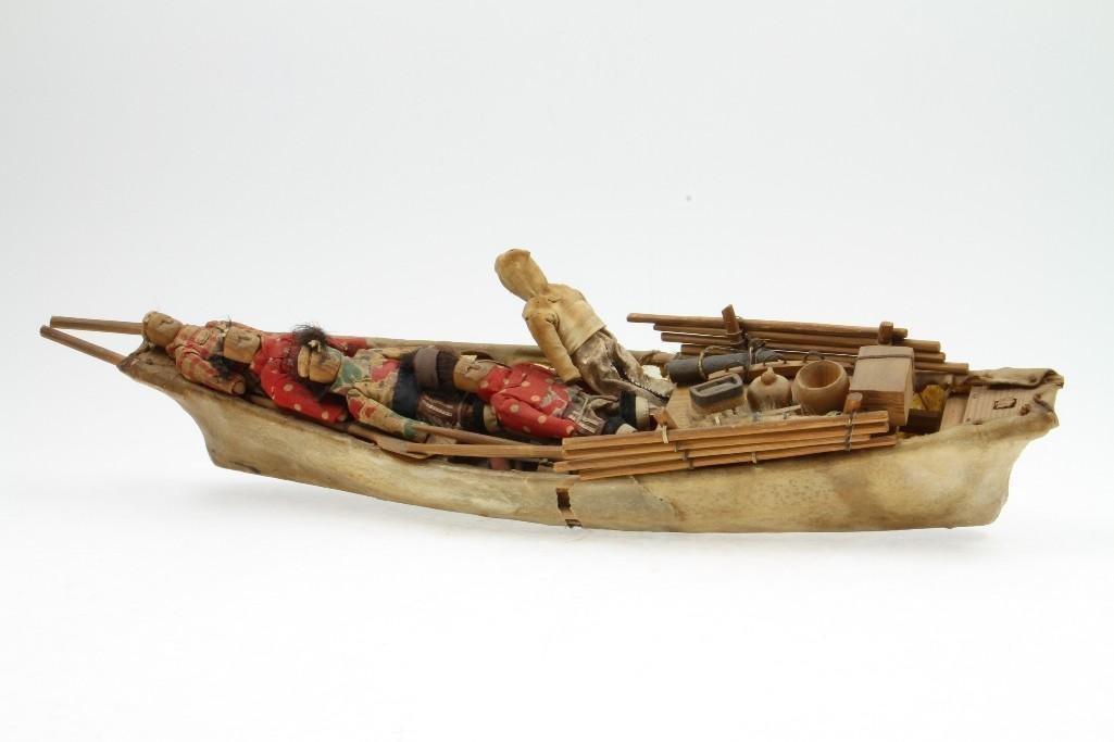 Greenland Eskimo model boat - 3