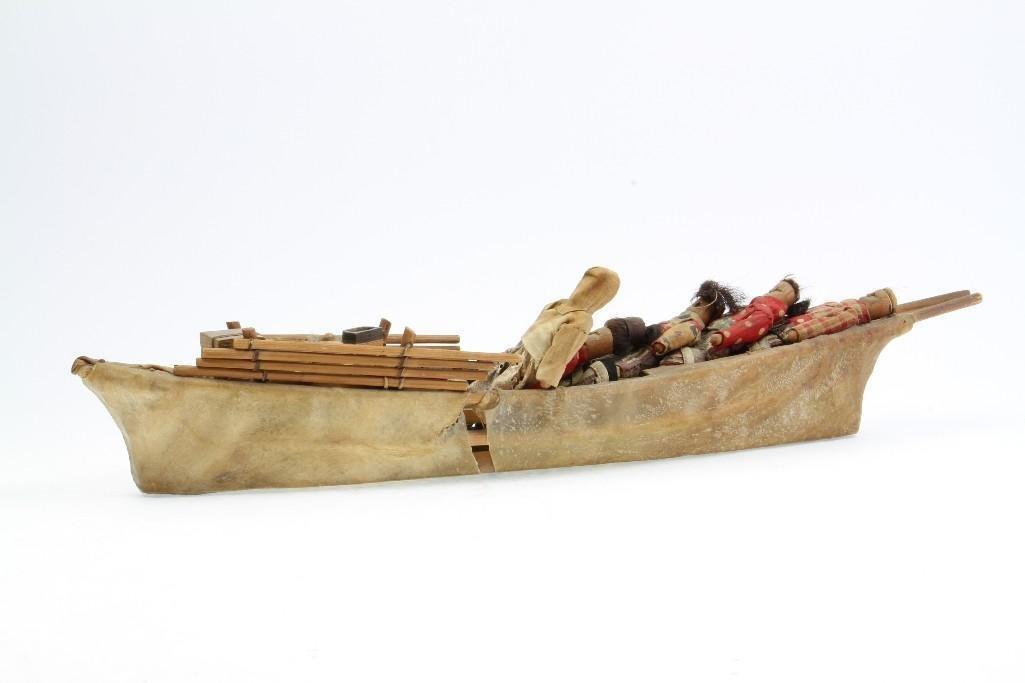 Greenland Eskimo model boat - 4