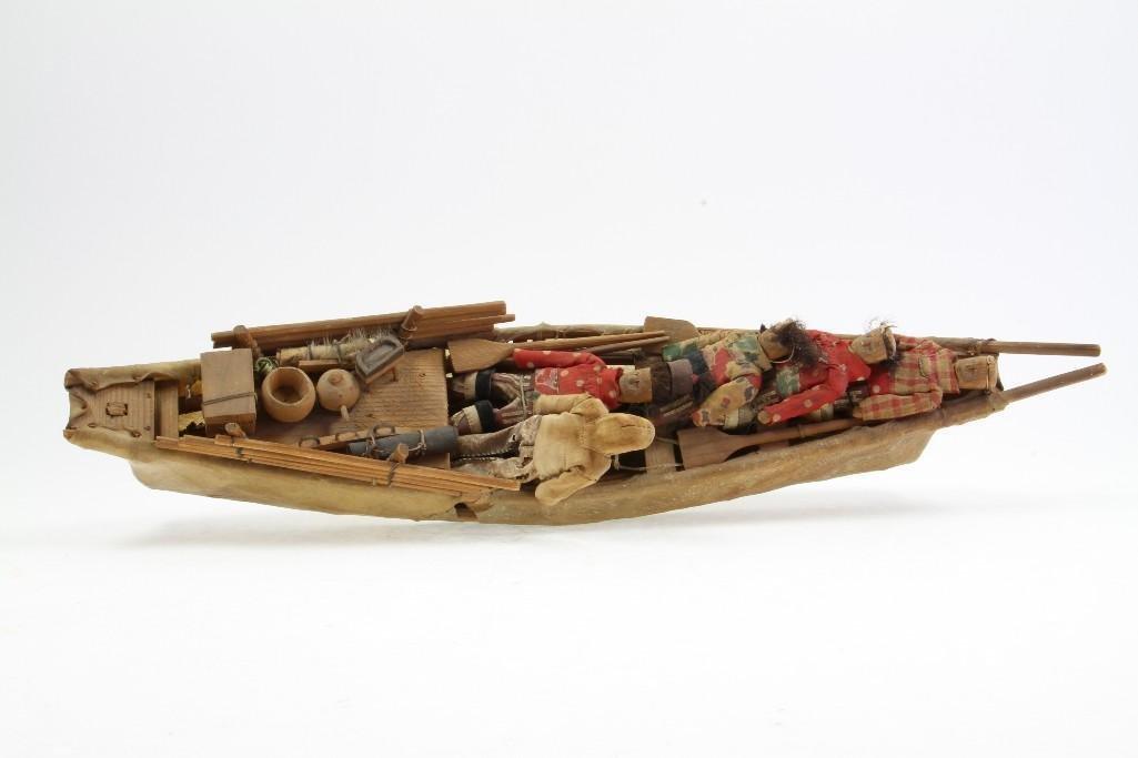 Greenland Eskimo model boat - 5