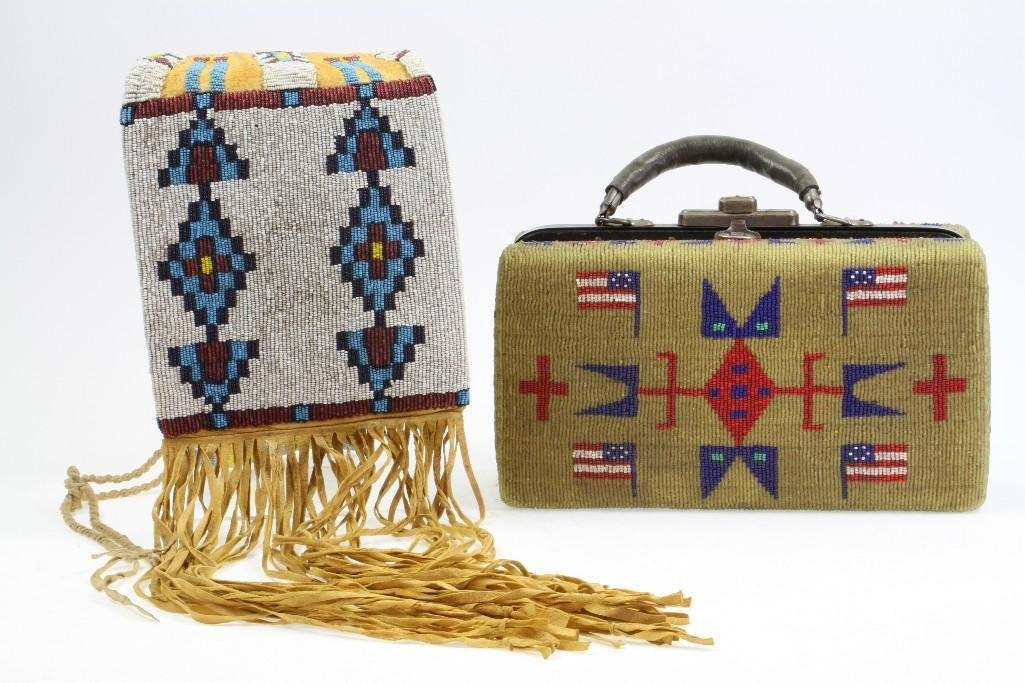Two beaded items