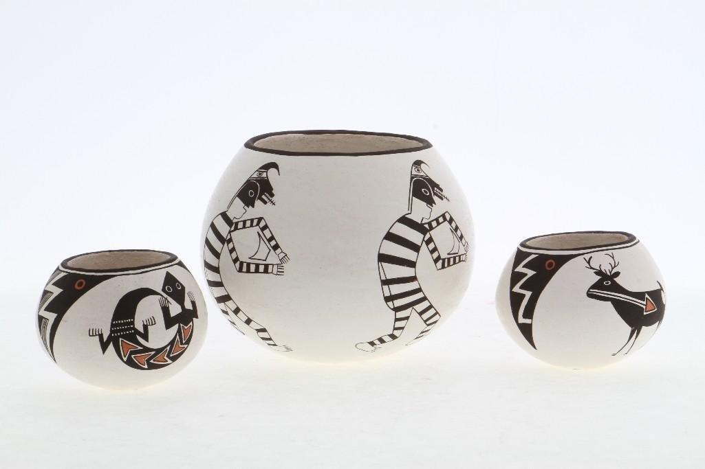 Three Acoma miniature bowls - 2