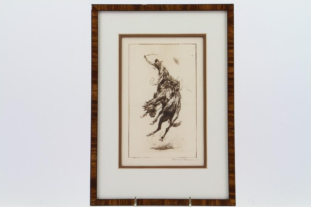 Three Edward Borein etchings - 10