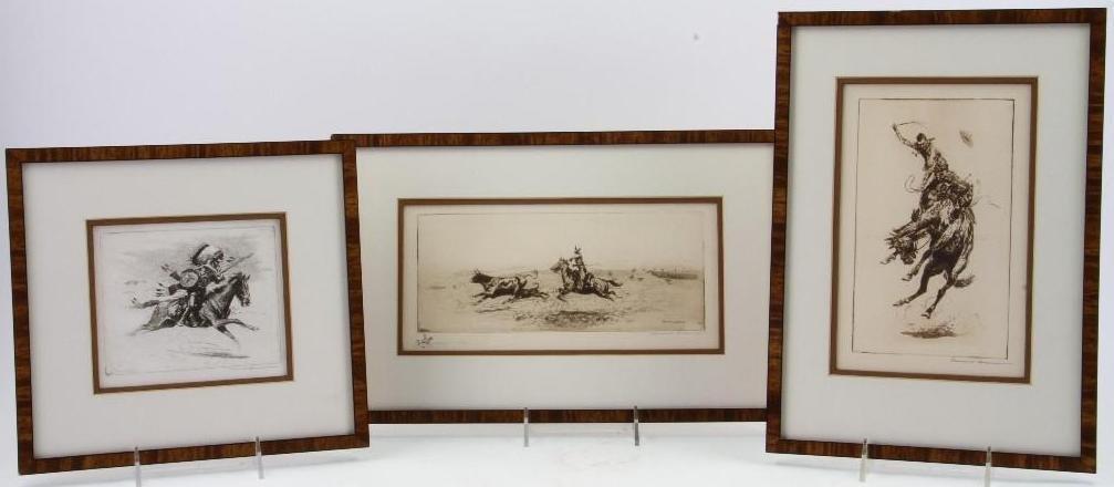 Three Edward Borein etchings