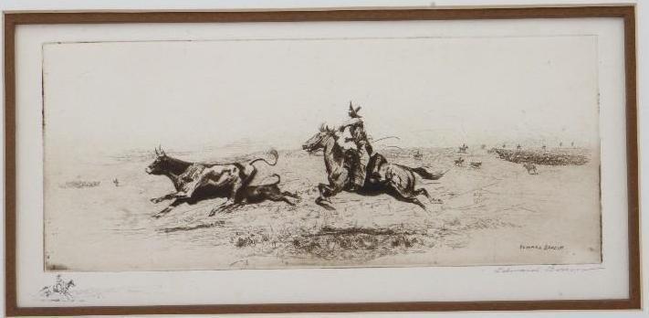 Three Edward Borein etchings - 2