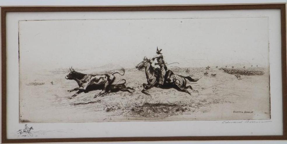 Three Edward Borein etchings - 3