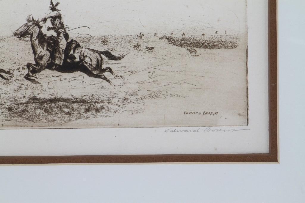 Three Edward Borein etchings - 4