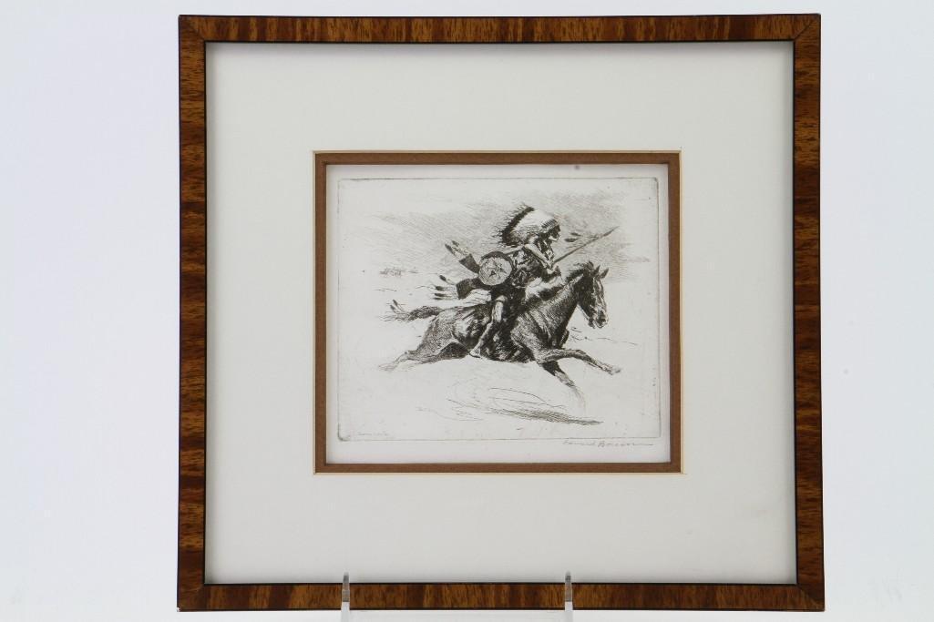 Three Edward Borein etchings - 6