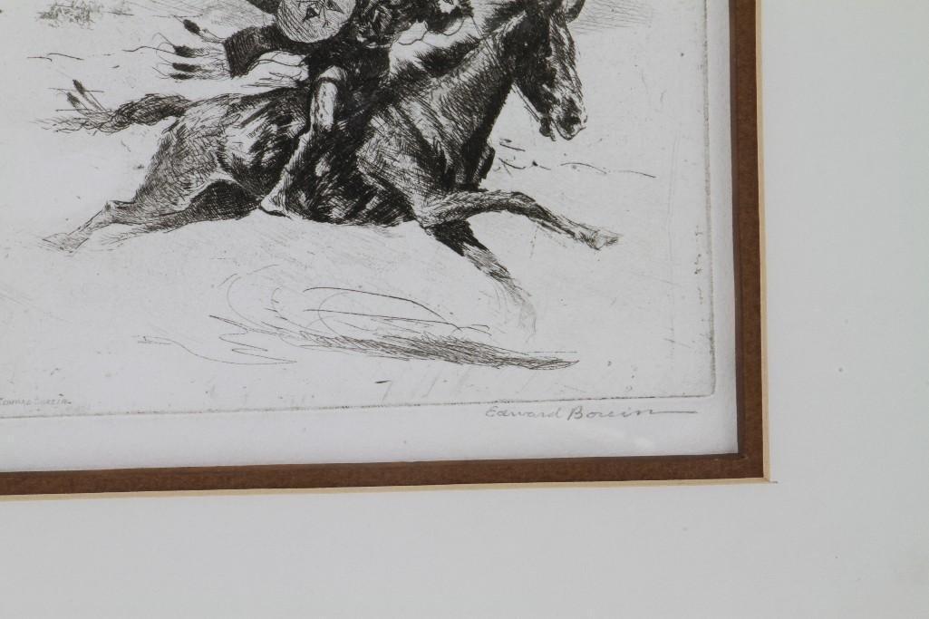 Three Edward Borein etchings - 8