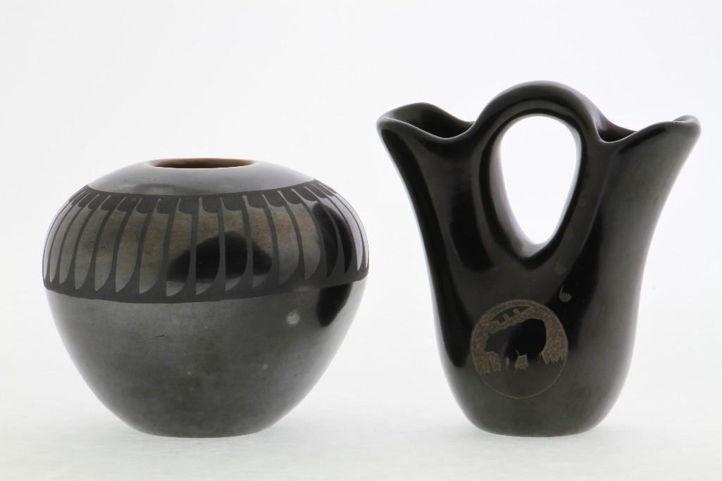 Two Pueblo blackware vessels - 2