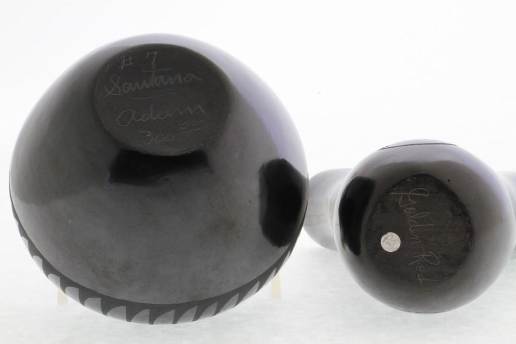 Two Pueblo blackware vessels - 3