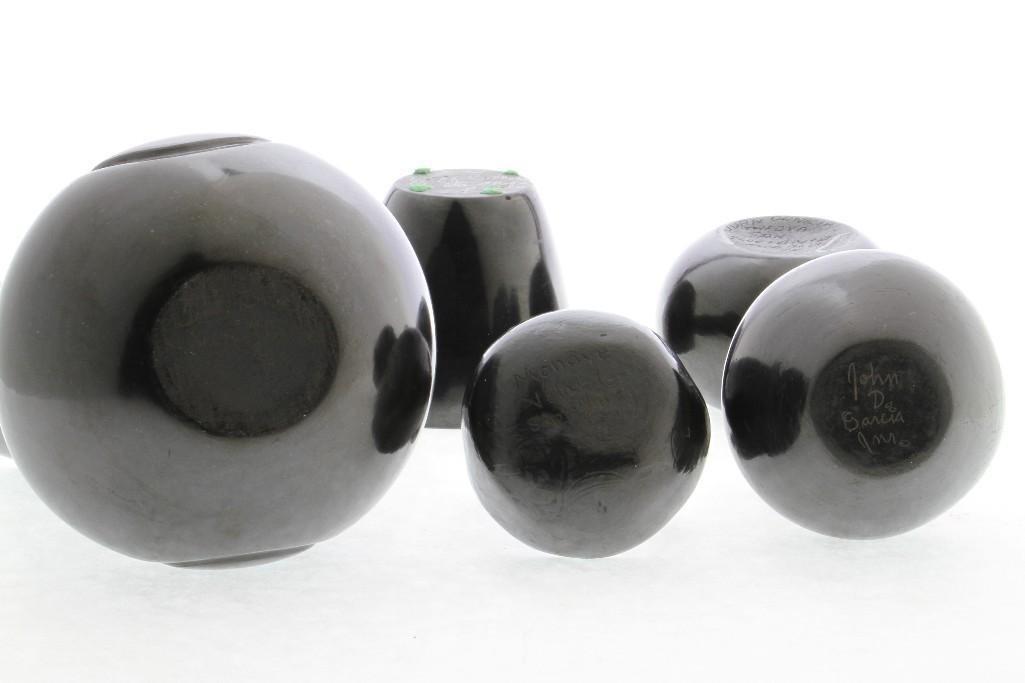 Five Pueblo blackware vessels - 5
