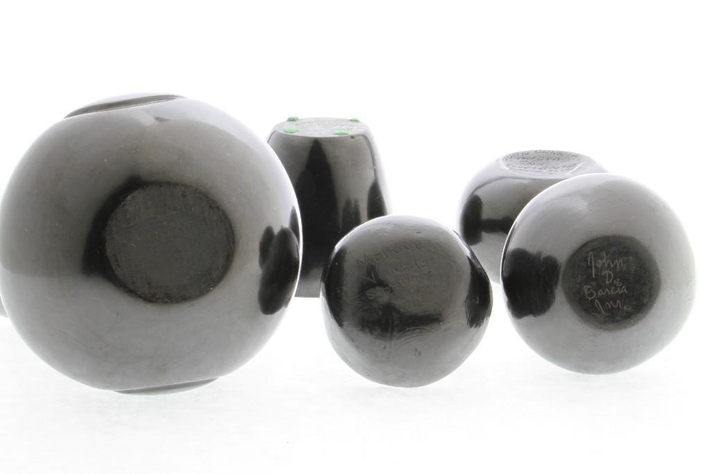 Five Pueblo blackware vessels - 6