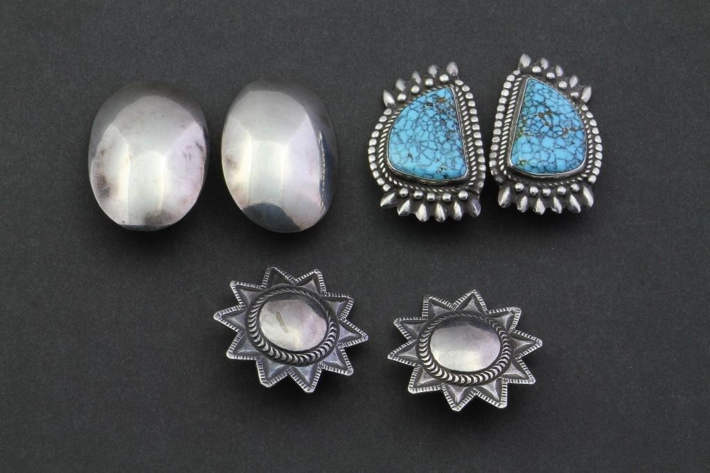 Three pairs of Southwest earrings