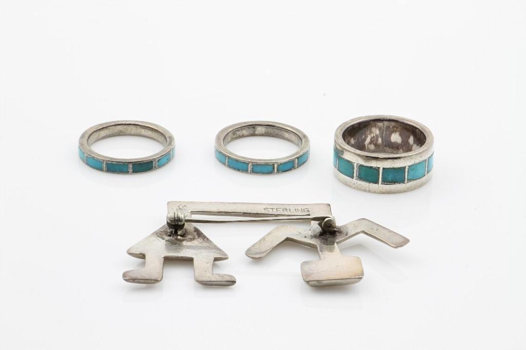 Four Southwest jewelry items - 2