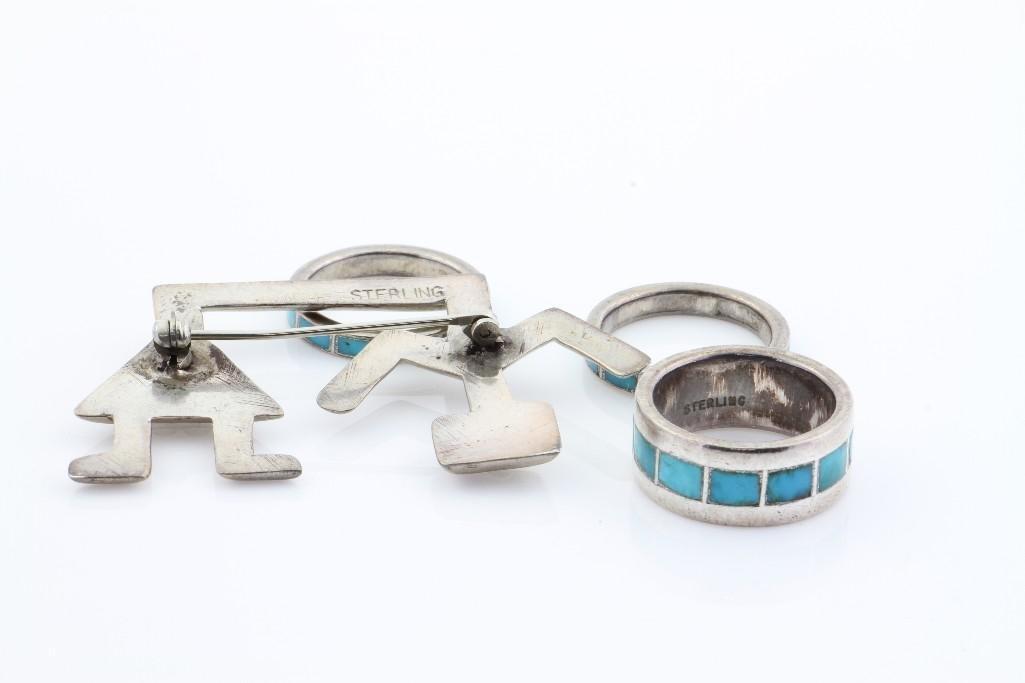 Four Southwest jewelry items - 3