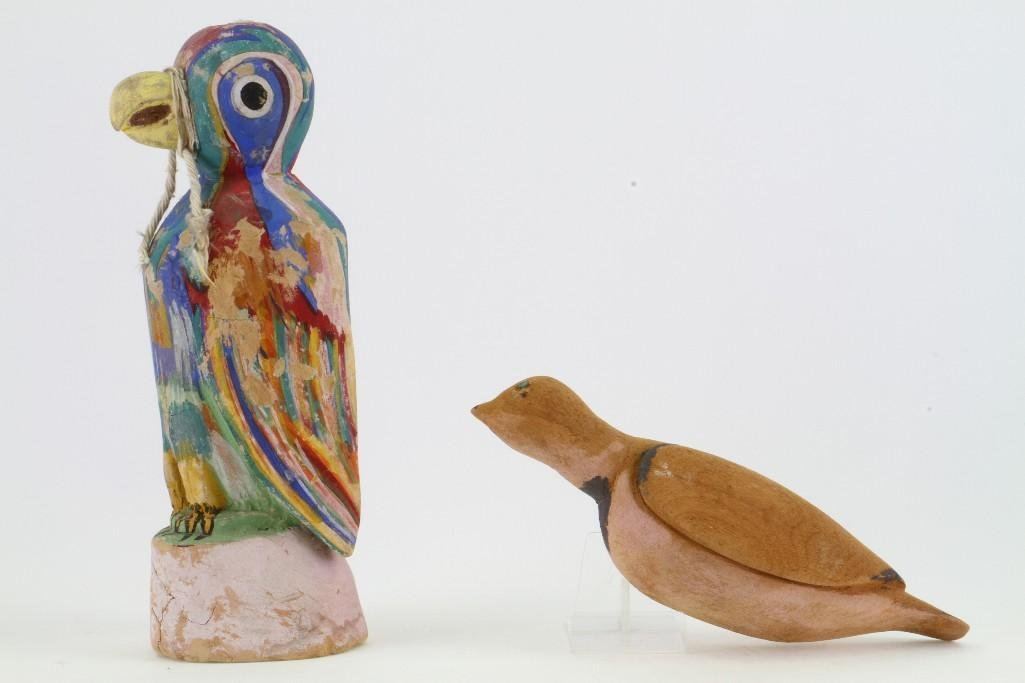 Two Hopi bird effigies