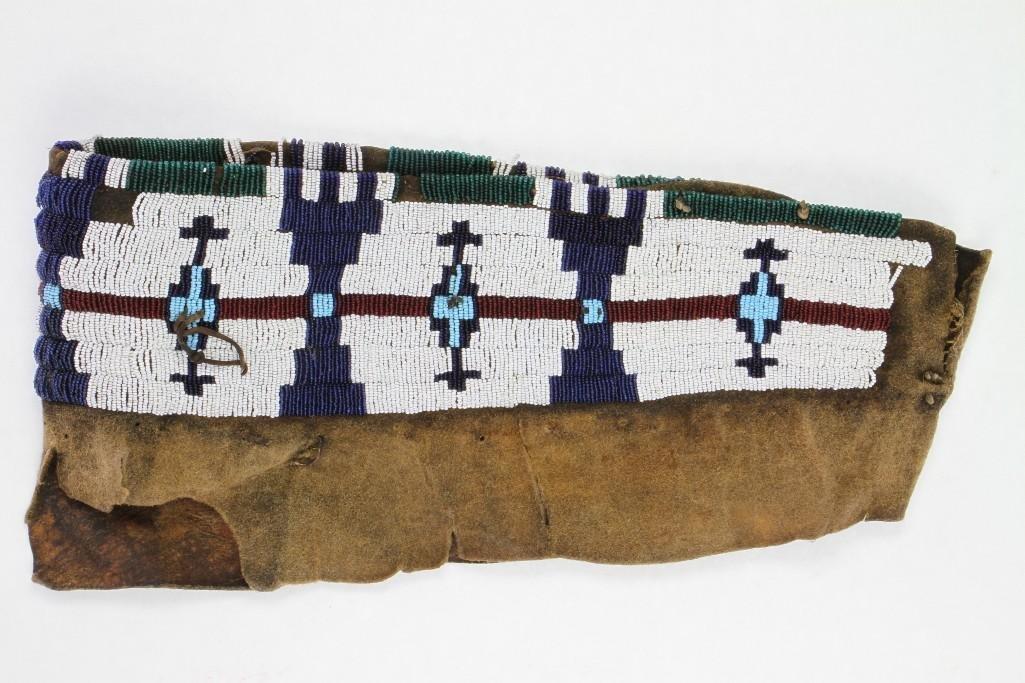 Cheyenne beaded model cradle cover