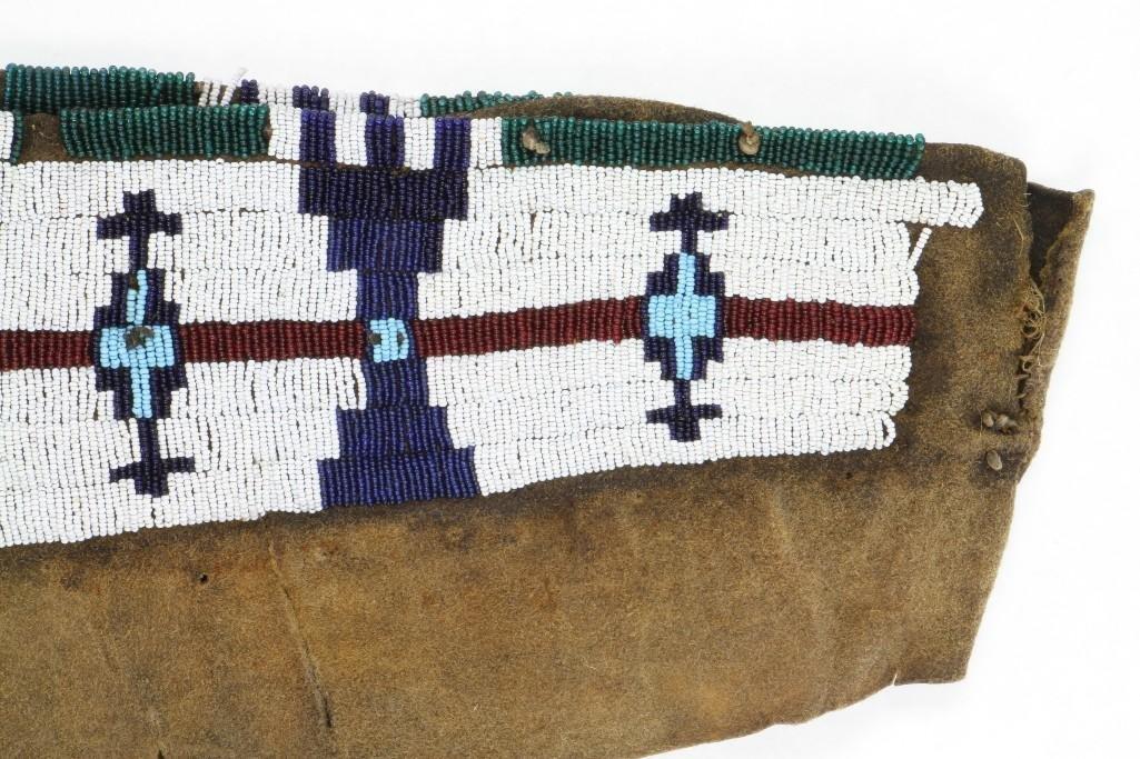 Cheyenne beaded model cradle cover - 9