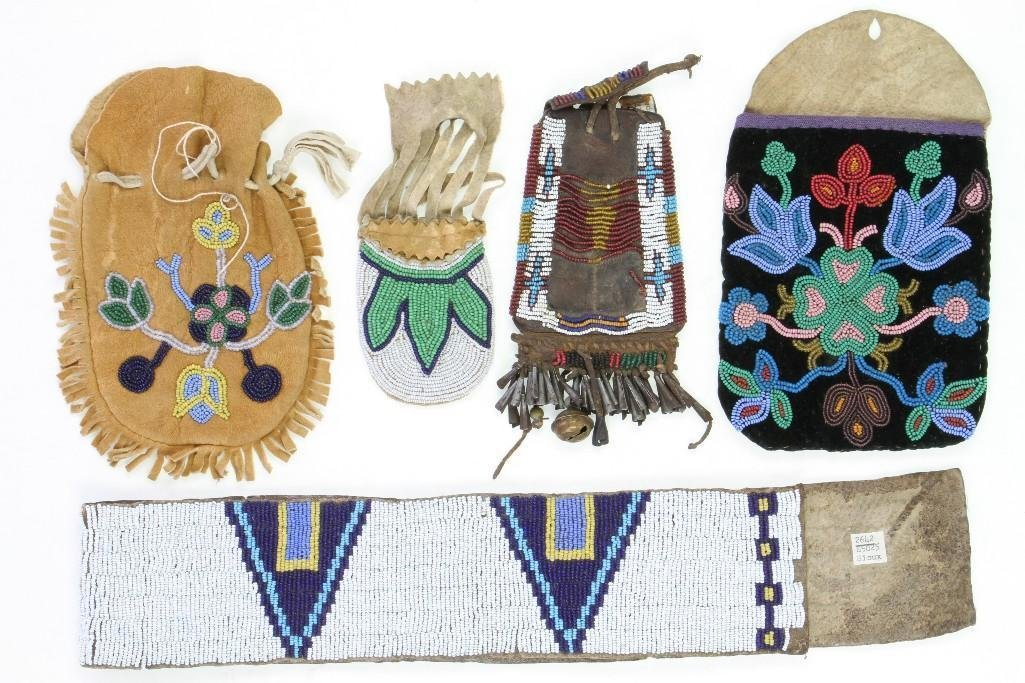 Five Plains or Great Lakes beaded items