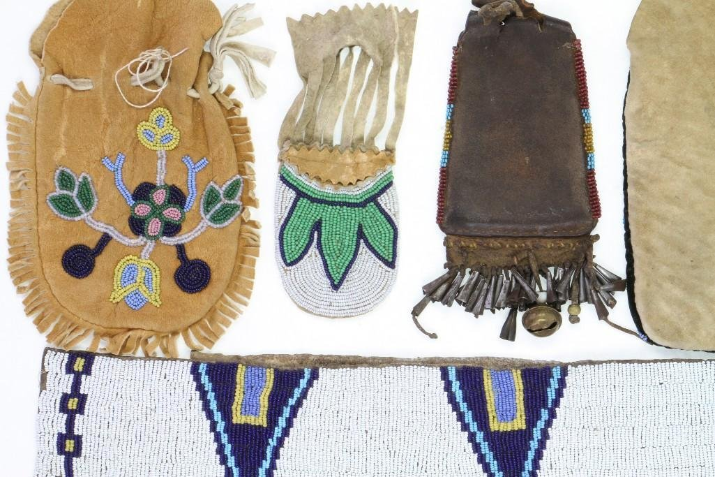 Five Plains or Great Lakes beaded items - 6