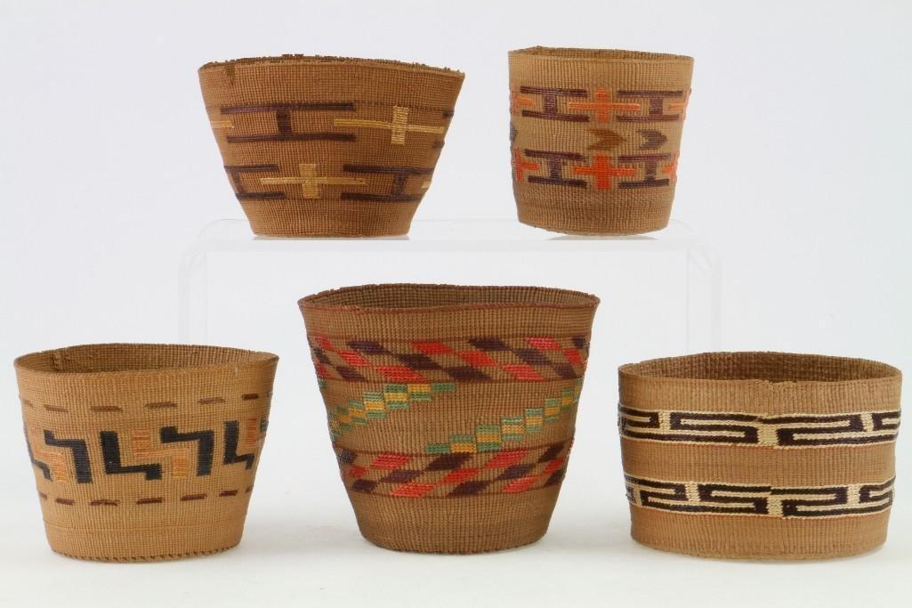 Five Tlingit baskets - 2