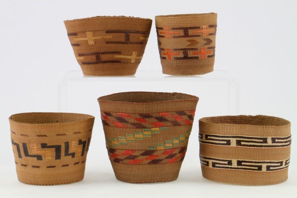 Five Tlingit baskets - 3