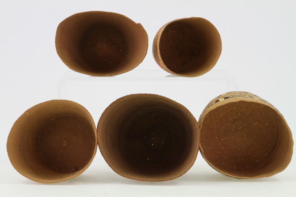 Five Tlingit baskets - 4