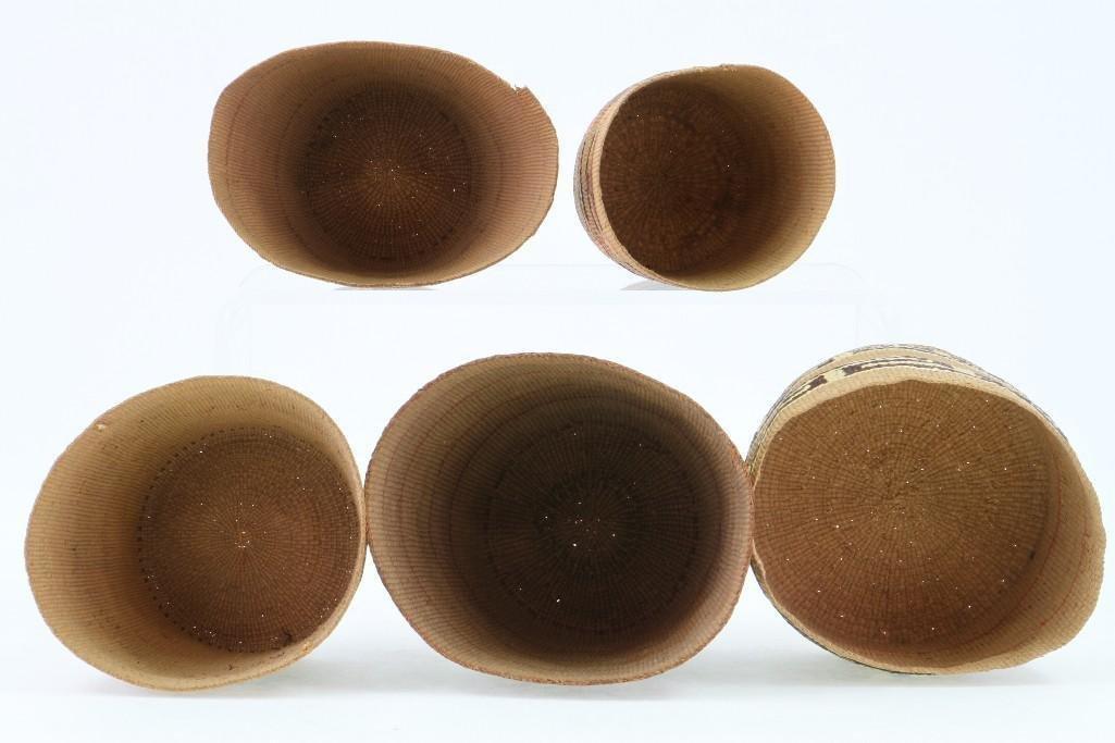 Five Tlingit baskets - 5