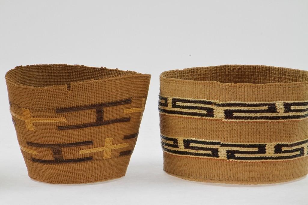 Five Tlingit baskets - 6