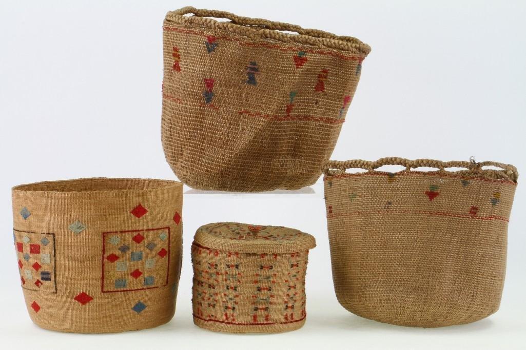 Four Attu baskets - 2