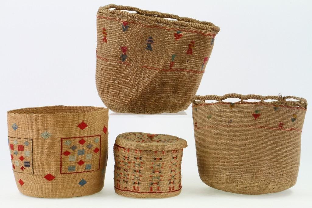 Four Attu baskets - 3