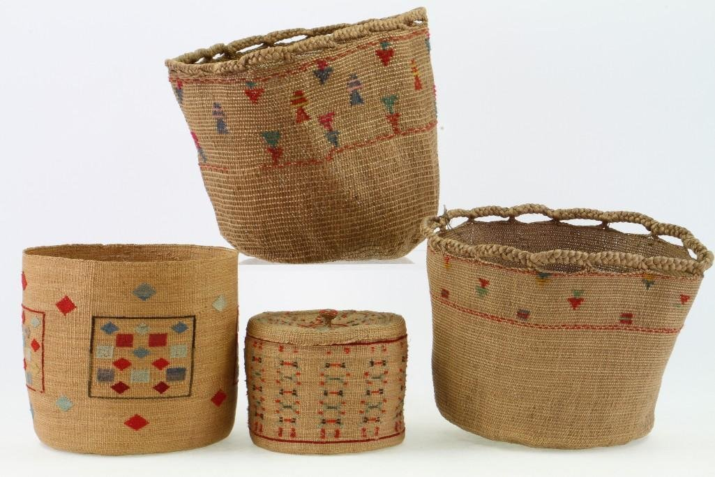 Four Attu baskets - 4